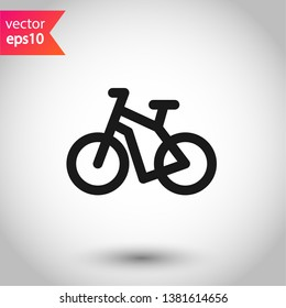 Bicycle vector icon. Bicycle vector flat sign.  EPS 10 symbol