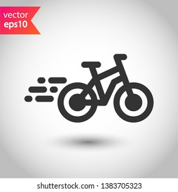 Bicycle vector icon. Bicycle vector flat sign. EPS 10 bicycle pictogram