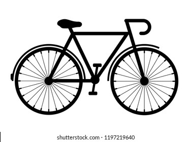Bicycle vector icon isolated on white background