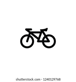 Bicycle vector isolated icon
