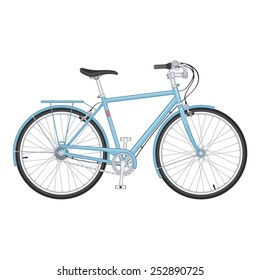 Bicycle in vector, Isolated vector object for poster and placard backgrounds.
