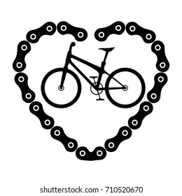 bicycle vehicle with heart chain