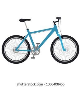 bicycle vehicle isolated icon