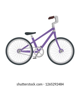 bicycle vehicle isolated icon