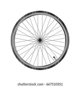 Bicycle wheel , front wheel of racing bike