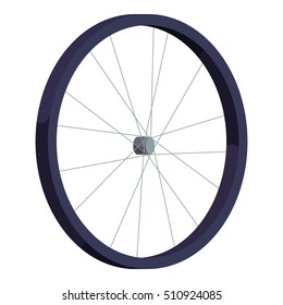 Bicycle wheel icon. Isometric illustration of bicycle wheel vector icon for web design