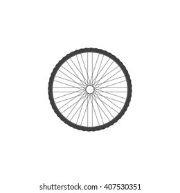 Bicycle wheel Icon  Part of the bike.