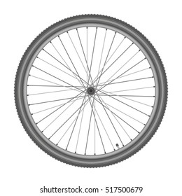 bicycle wheel on white background quality vector illustration