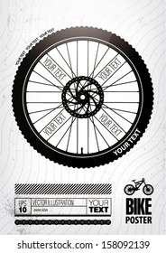 Bicycle wheel. Poster template