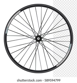 Bicycle wheel under the rear drive