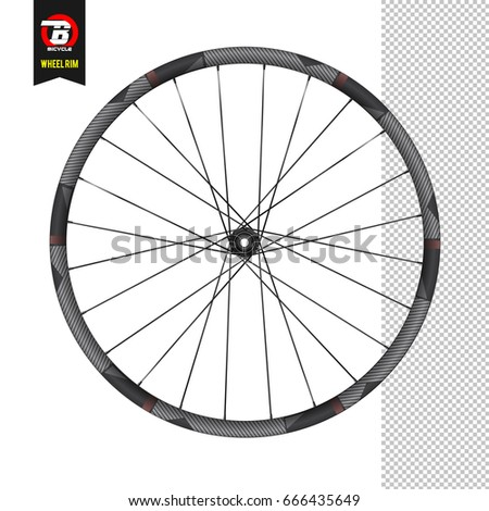 168b73c8cc4 Bicycle wheel under the rear drive. White background. Realistic vector.