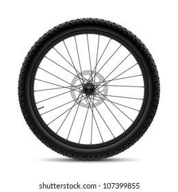 Bicycle wheel. Vector.
