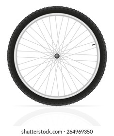 bicycle wheel vector illustration isolated on white background