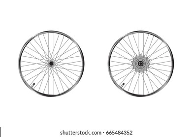 Bicycle wheels , front and back wheels with gears