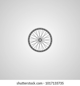 Bicycle wheels . Vector icon. More Icon in set.