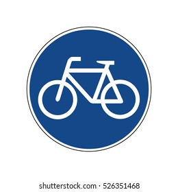 Bicycles Only Road Sign