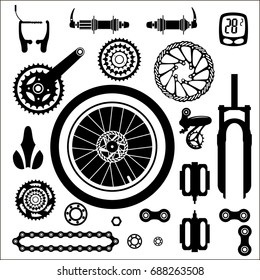 Bicycle Parts Images, Stock Photos & Vectors | Shutterstock