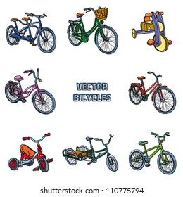 Bicycles. Vector illustration