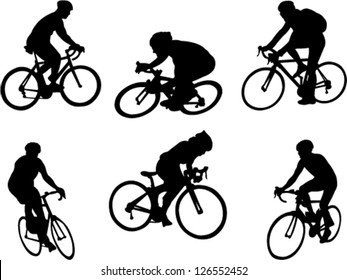 bicyclists collection vector