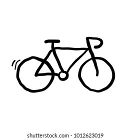 Bicyle hand drawn doodle vector