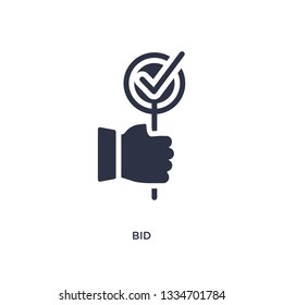 bid icon. Simple element illustration from marketing concept. bid editable symbol design on white background. Can be use for web and mobile.