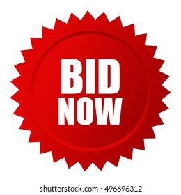 Bid now auction star icon