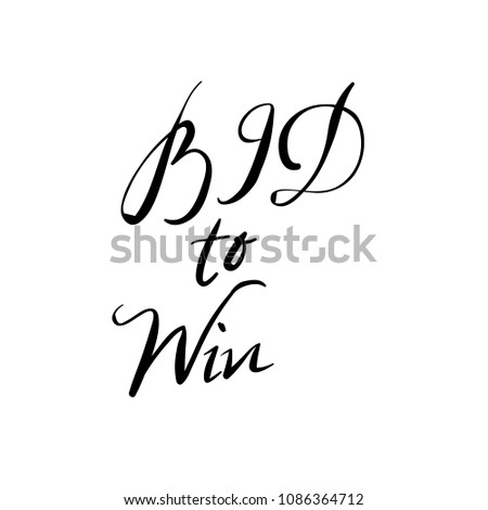Bid Win Vector Letters Stock Vector Royalty Free 1086364712