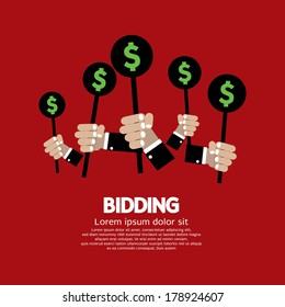 Bidding or Auction Concept Vector Illustration