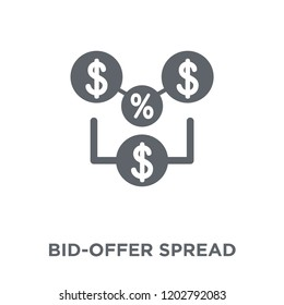 Bid-offer spread icon. Bid-offer spread design concept from Bid offer spread collection. Simple element vector illustration on white background.