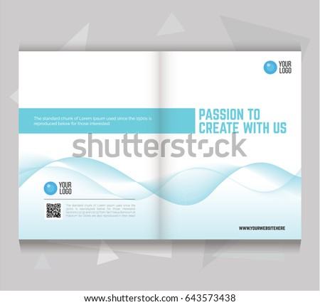 Bi Fold Brochure Flyer Template Letter Size Clean