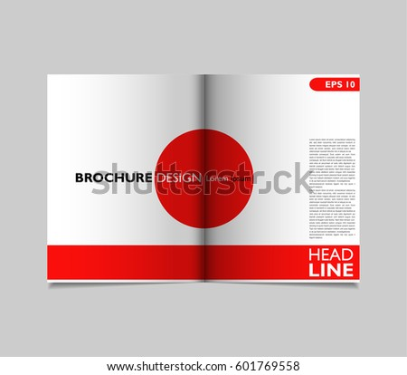 bifold brochure template design flyer layout stock vector royalty