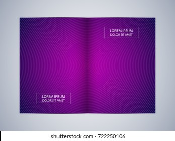bifold brochure template layout flyer cover stock vector royalty