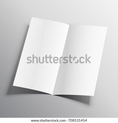 bifold paper mockup vector design template stock vector royalty