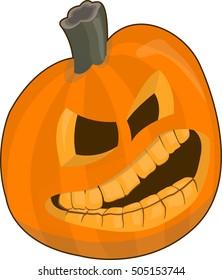 Big angry pumpkin. Vector illustration EPS10 for Halloween Holiday