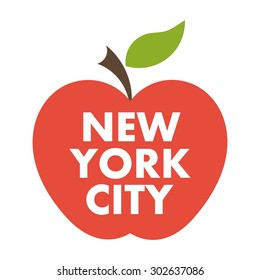 Big apple. New York city vector symbol