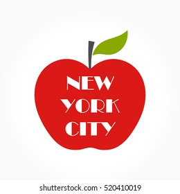 Big apple - NY concept illustration