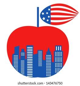 big apple symbol of New York city