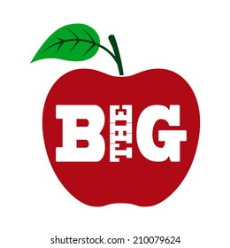 the big apple vector
