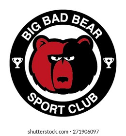 Big bad Bear, Sport Club Logo Design Idea