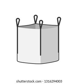 Big bag icon. Clipart image isolated on white background