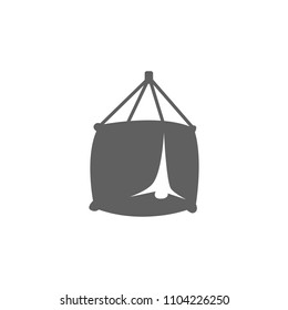 Big bag icon vector in trendy flat style isolated on white background