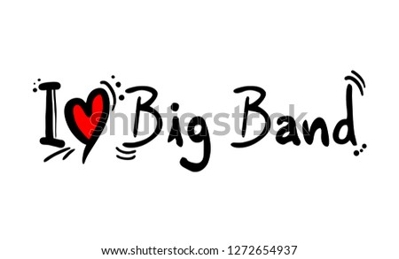 Big Band Music Style Stock Vector (Royalty Free) 1272654937