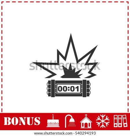 Big Bang Flash Icon Flat Simple Stock Vektorgrafik Lizenzfrei