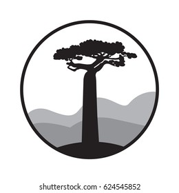 Big baobab logo. Baobab label