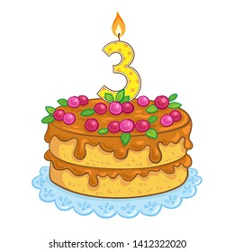 Birthday Cake Isolated Images, Stock Photos & Vectors