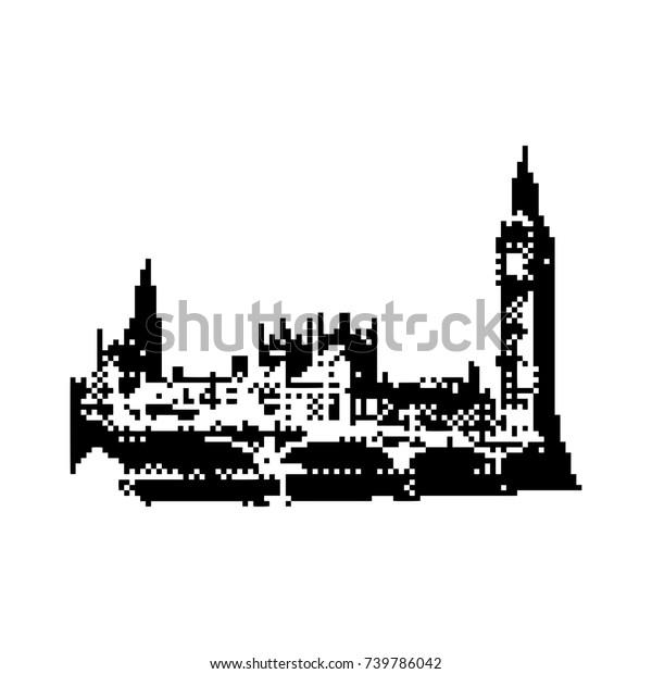 Big Ben Clock Tower Parliament House Stock Vector Royalty
