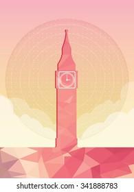 Big Ben, Famous world landmark, London, vector illustration