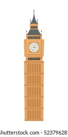 Big Ben . flat vector illustration isolate on a white background. easy to use