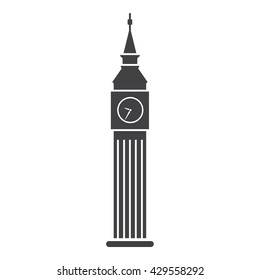 Big Ben icon Vector Illustration on the white background.