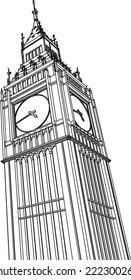 big ben london sketch